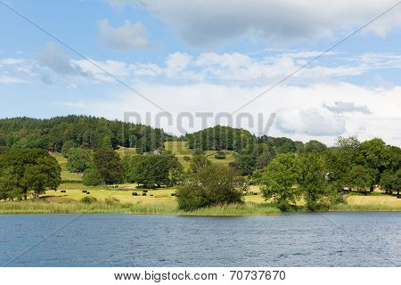 Esthwaite Water Lake District Cumbria near Hawkshead village and between Windermere and Coniston