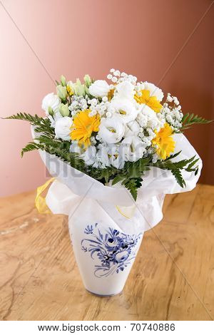 Begonia And Gerbera Flowers