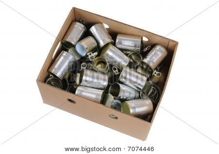 Box Of Used Cans