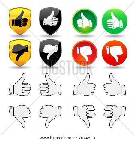 Hand Gestures - Set 1 - Thumbs