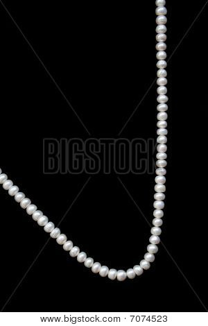 White Pearls On The Black Silk