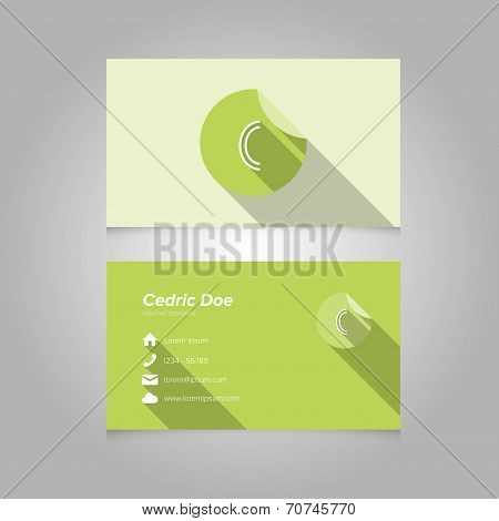 Simple Business Card Template With Alphabet Letter C
