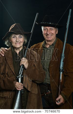 Gunslingers in western garment