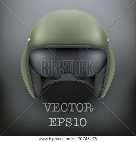 Background of Military flight helicopter helmet. Vector.