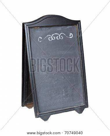 Empty Menu Board Stand