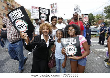 Activists of all ages with NAN signs