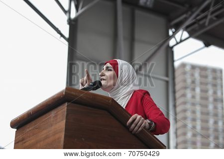 Linda Sarsour of the Arab-American League