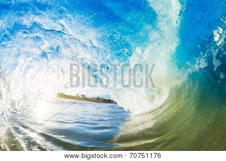 Crashing Blue Ocean Wave