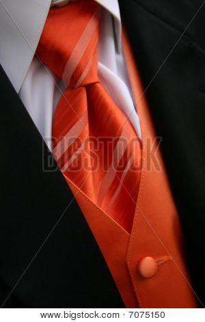 Orange Tie Tux