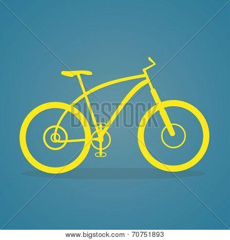 Yellow Bike Icon