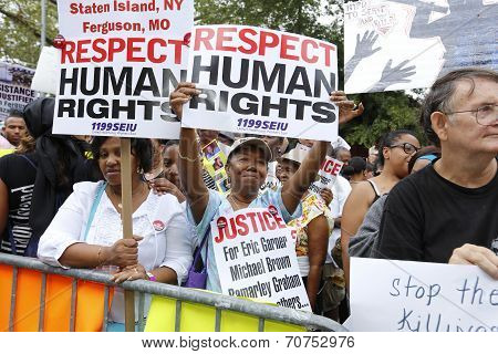 Respect Human Rights signs
