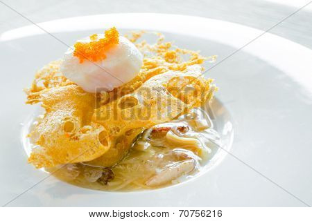 hokkaido scallop with crab meat sauce - Chinese Cuisine