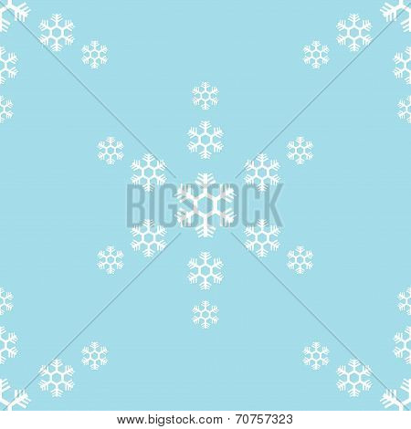 seamless of snowflake on blue background