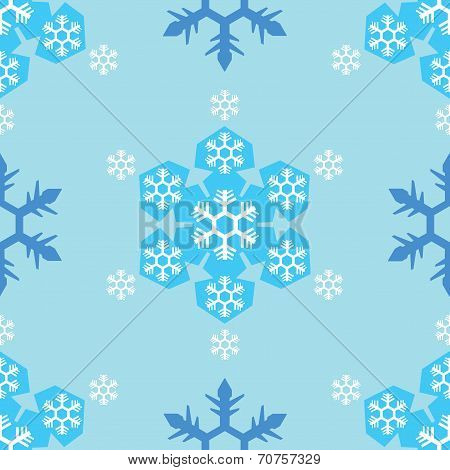 seamless of blue tone snowflake background