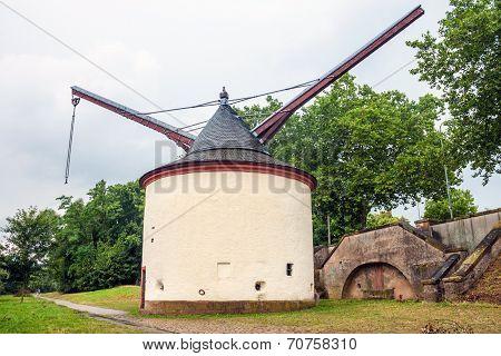 Medieval Harbor Crane