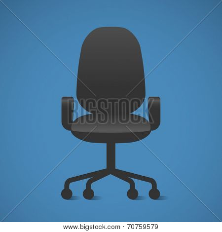 Vector Office chair. The Black office chair