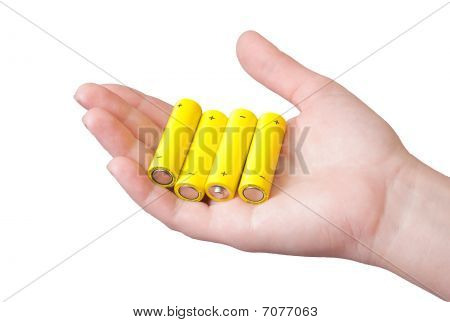 Battery on hand