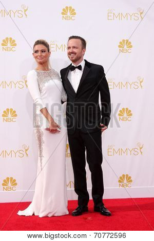 LOS ANGELES - AUG 25:  Aaron Paul at the 2014 Primetime Emmy Awards - Arrivals at Nokia Theater at LA Live on August 25, 2014 in Los Angeles, CA