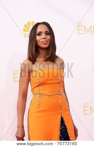 LOS ANGELES - AUG 25:  Kerry Washington at the 2014 Primetime Emmy Awards - Arrivals at Nokia Theater at LA Live on August 25, 2014 in Los Angeles, CA