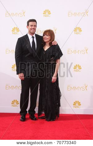 LOS ANGELES - AUG 25:  Carson Daly, mother at the 2014 Primetime Emmy Awards - Arrivals at Nokia Theater at LA Live on August 25, 2014 in Los Angeles, CA