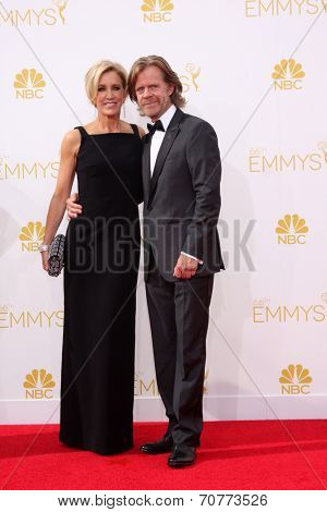 LOS ANGELES - AUG 25:  Felicity Huffman, William H. Macy at the 2014 Primetime Emmy Awards - Arrivals at Nokia Theater at LA Live on August 25, 2014 in Los Angeles, CA