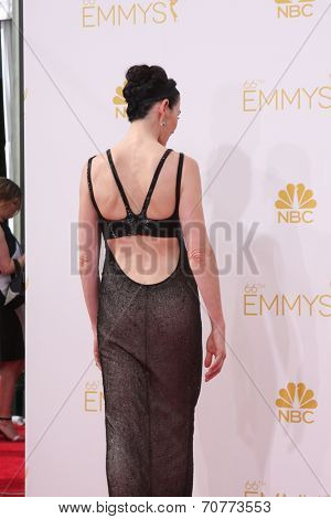 LOS ANGELES - AUG 25:  Julianna Margulies at the 2014 Primetime Emmy Awards - Arrivals at Nokia Theater at LA Live on August 25, 2014 in Los Angeles, CA