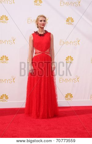 LOS ANGELES - AUG 25:  Claire Danes at the 2014 Primetime Emmy Awards - Arrivals at Nokia Theater at LA Live on August 25, 2014 in Los Angeles, CA