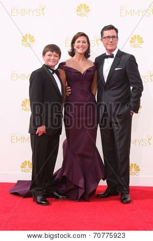 LOS ANGELES - AUG 25:  Stephen Colbert at the 2014 Primetime Emmy Awards - Arrivals at Nokia Theater at LA Live on August 25, 2014 in Los Angeles, CA