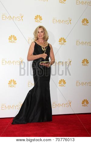 LOS ANGELES - AUG 25:  Jessica Lange at the 2014 Primetime Emmy Awards - Press Room at Nokia Theater at LA Live on August 25, 2014 in Los Angeles, CA