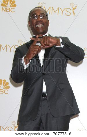 LOS ANGELES - AUG 25:  Joe Morton at the 2014 Primetime Emmy Awards - Press Room at Nokia Theater at LA Live on August 25, 2014 in Los Angeles, CA