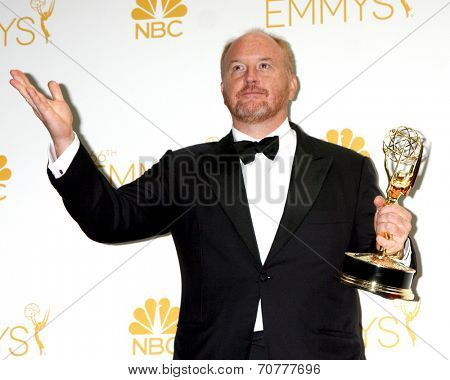 LOS ANGELES - AUG 25:  Louis C.K. at the 2014 Primetime Emmy Awards - Press Room at Nokia Theater at LA Live on August 25, 2014 in Los Angeles, CA