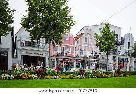 The seaside resort of Warnemunde, Germany