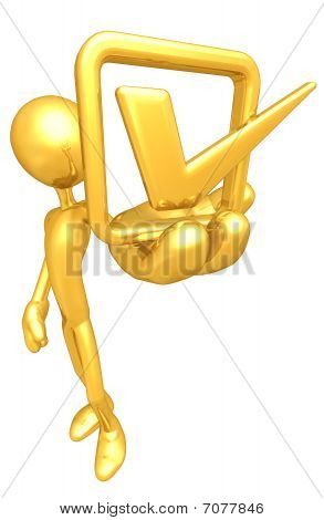 Gold Guy With Golden Vote