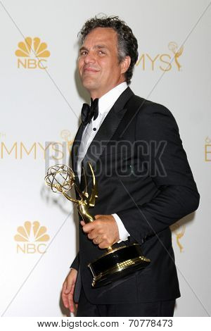 LOS ANGELES - AUG 25:  Mark Ruffalo at the 2014 Primetime Emmy Awards - Press Room at Nokia Theater at LA Live on August 25, 2014 in Los Angeles, CA