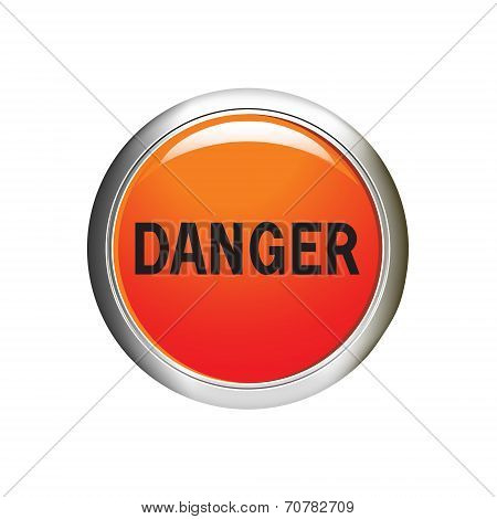 Danger Icon. Internet Button. Vector Illustration