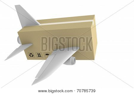 Express airmail delivery and global shipping concept