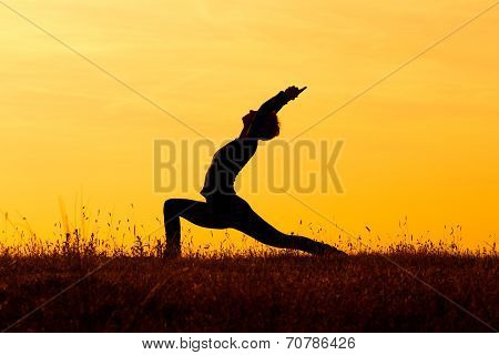Yoga-Virabhadrasana /Warrior pose