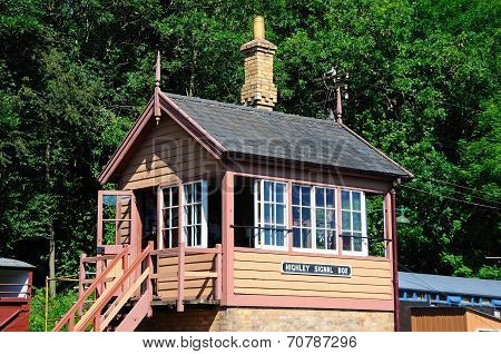 Railway signal box, Highley.