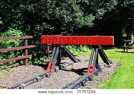 Railway buffer stop, Highley.