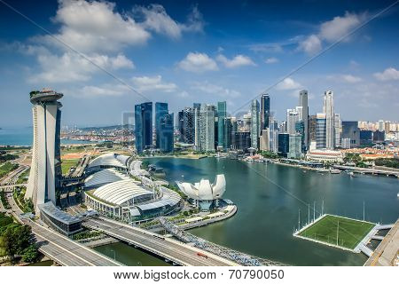Landscape Of Singapore City