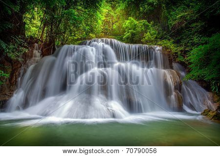 Level Three Of Huai Mae Kamin Waterfall