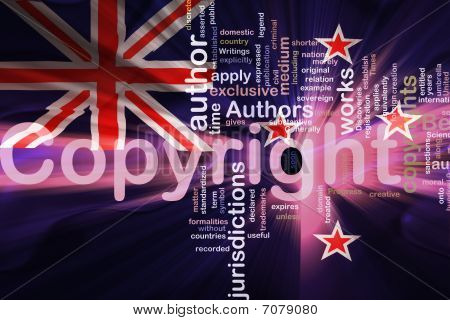 Flag Of New Zealand Wavy Copyright Law