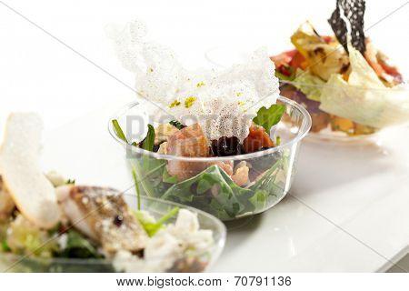 Buffet Salad on White Dish