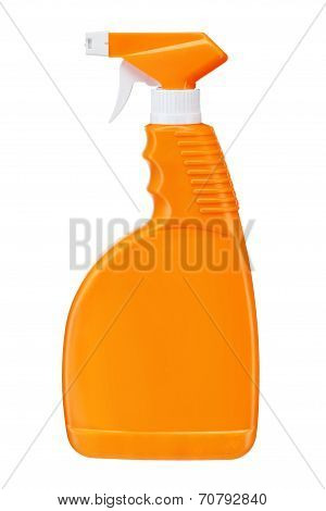 Orange plastic dispenser