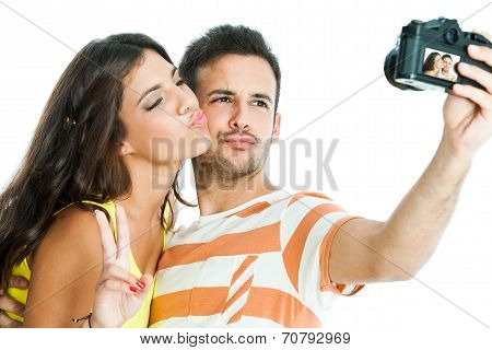 Couple Taking Fun Selfie.