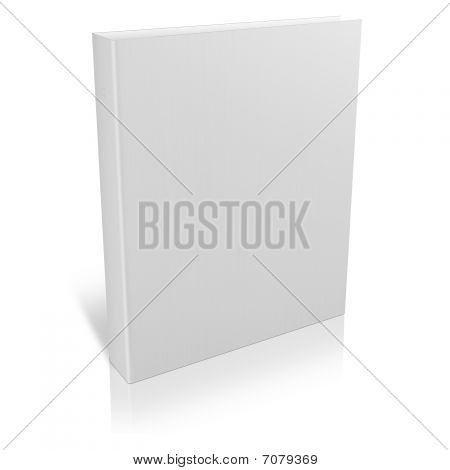 3d book with blank covers isolated on white