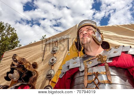 Roman Soldier In Camp