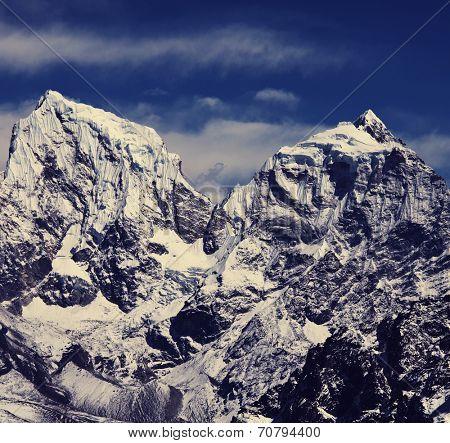 mountains in Sagarmatha region,Himalaya