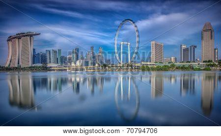 Landscape Of The Singapore City