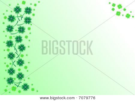 Background with shamrock for st. Patrick's Day